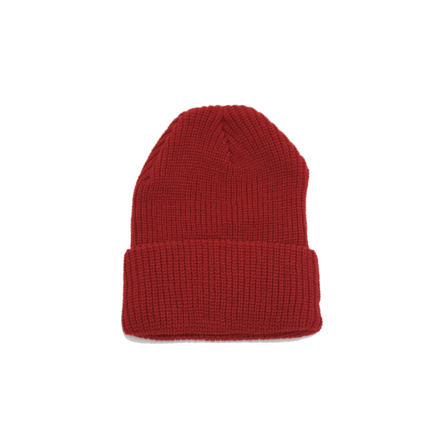 Rib Knit Beanie   Red   http://futurereplica.com